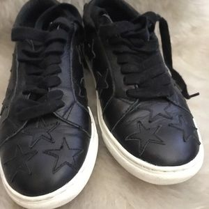 J/Slides NYC Leather Sneakers with Stars!